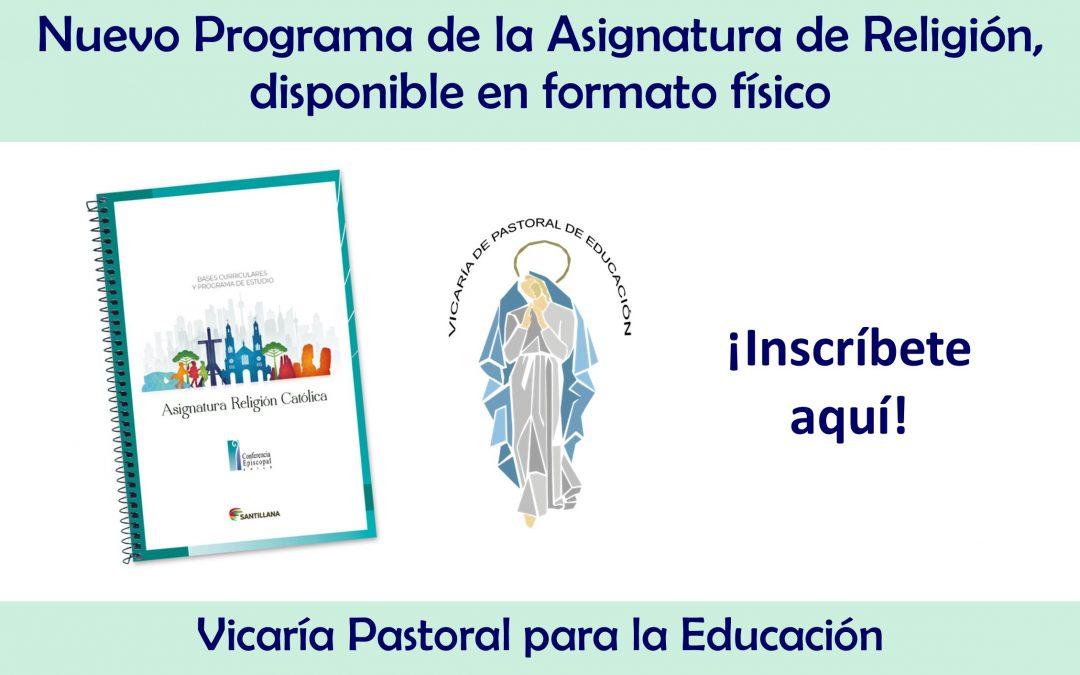Inscríbete aquí y adquiere nuevo Programa de Religión Católica